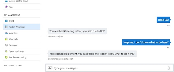 Building an intelligent Node.js Chatbot with Azure Bot Service